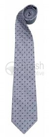 50JSTFTTG - Hedvábná kravata F-type (šedivá)