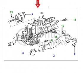 JDE10760- levý EGR ventil 3.0TD