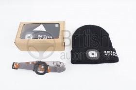 Zimní čepice s LED svítilnou a USB nabíjením