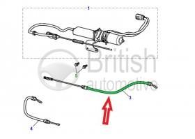 C2C31910- pravý lanovod ruční brzdy