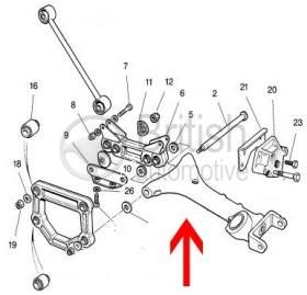 MNB2961AA- Levé spodní rameno (zadní)