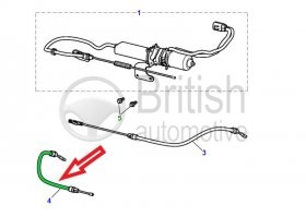 C2C31911- levý lanovod ruční brzdy