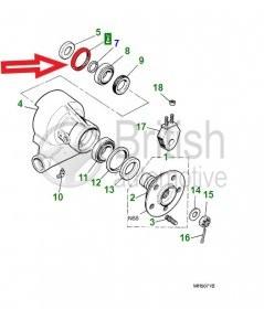 C15231- vnitřní gufero zadní těhlice