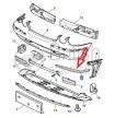 C2C1593- levá lišta předního nárazníku